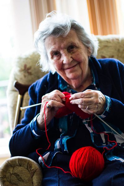 Knitting at Southlands